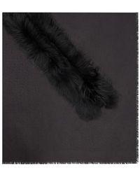 Fendi Touch Of Fur Schultertuch - Schwarz