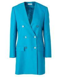 Balenciaga Blazer Dress - Blue