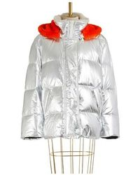 Army by Yves Salomon Fur-lined Ultra-light Puffer Jacket - Multicolour