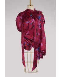 Balenciaga - Asymmetrical Blouse - Lyst