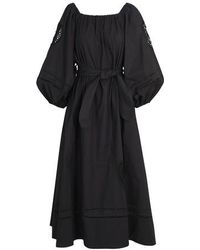 Patou Embroidered Dress - Black
