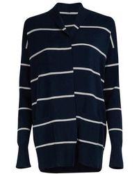 Loro Piana Bretagne Striped Cardigan - Blue