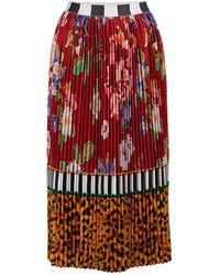 Stella Jean Pleated Skirt - Red