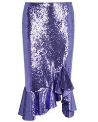 Tom Ford Sequins Skirt - Blue