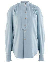 Rejina Pyo Marianne Cotton-blend Shirt - Blue