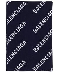 Balenciaga Écharpe - Bleu
