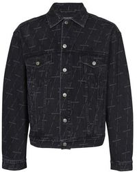 Balenciaga Large Fit Jacket - Blue