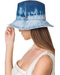 Alberta Ferretti Oceanic Tie Dye I Love Summer Bucket Hat - Blue