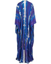 Tom Ford Tie And Dye Kaftan Dress - Blue