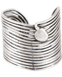 Gas Bijoux Wave Ring - Metallic