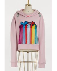 Mira Mikati - Late Patch Cotton Hoodie - Lyst