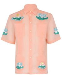CASABLANCA Ocean Resort Shirt - Pink