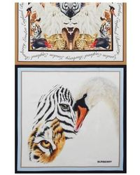 Burberry Animals Print Silk Scarf - Multicolor