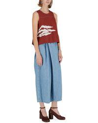 Marni Pantalon en Chambray - Bleu