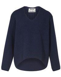Acne Studios Deborah Wool Sweater - Blue