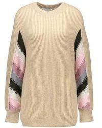 JW Anderson Striped-sleeve Wool Crewneck Sweater - Multicolor