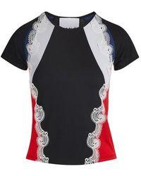 Koche Lace Detail T-shirt - Black