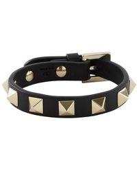 Valentino Bracelet Rockstud Garavani - Noir