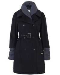 Woolrich Kuna Trench Coat - Blue