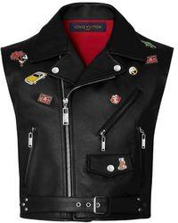 Louis Vuitton Calfskin Vest With Pins - Black