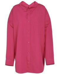 Balenciaga Hemd mit langen Ärmeln aus Baumwolle - Pink