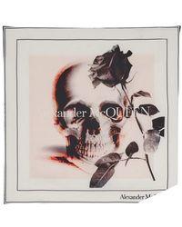 Alexander McQueen Bandana Rose Ghost - Multicolore
