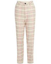 Forte Forte Tartan Pants - Pink