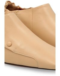 MANU Atelier Buttoned Duck Loafers - Natural
