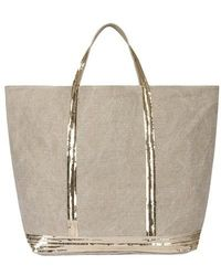 Vanessa Bruno - Linen And Sequins Xl Cabas Tote - Lyst