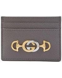 Gucci Zumi Grainy Card Case - Grey
