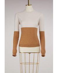 Jil Sander - Bicolor Cashmere Sweater - Lyst