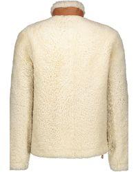 Loewe Shearling Leather Coat - Natural