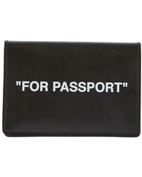 Off-White c/o Virgil Abloh Quote Passport Holder - Black