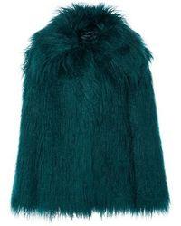Alberta Ferretti Faux-fur Coat - Green