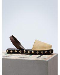 Loewe - Slingblack Studs Sandals - Lyst