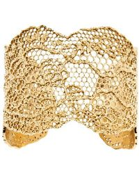 Aurelie Bidermann Vintage Lace Cuff - Metallic