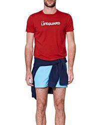 Orlebar Brown T-shirt Christopher II Lifeguard Slogan - Rouge