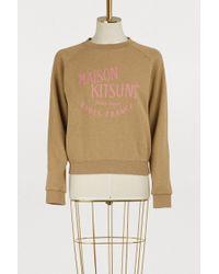Maison Kitsuné - Palais Royal Cotton Sweatshirt - Lyst