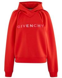 Givenchy Hooded Sweatshirt - Red