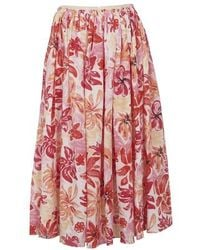 Marni Midirock mit Blumenprint - Pink