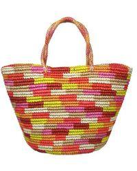Sensi Studio Large Straw Bag - Red
