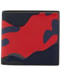 Valentino Valentino Garavani Billfold Camouflage Wallet - Red