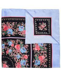 Erdem Flower Print Silk Scarf - Multicolour