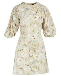 Alexander McQueen Silk Mini Dress - White