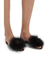 Louis Vuitton Lv Marilyn Flat Mules - Black