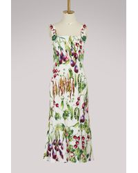 Dolce & Gabbana - Mix Vegetables Maxi Dress - Lyst