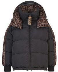 Fendi Black Nylon Down Jacket