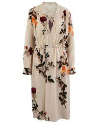 Dries Van Noten Printed Dress - Natural