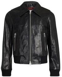 Dries Van Noten Leather Jacket - Black