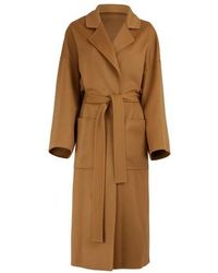 Loewe Oversize Coat With Belt - Natural
